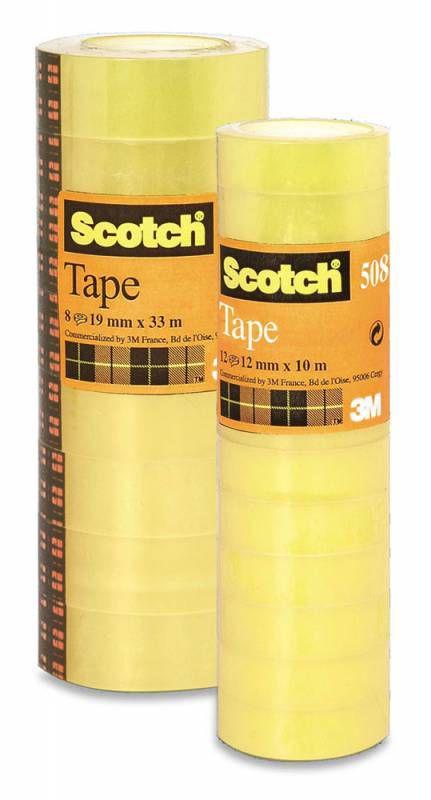 Клейкая лента канцелярская 3M Scotch 508 7000039523 шир.19мм дл.33м (упак.:8шт)