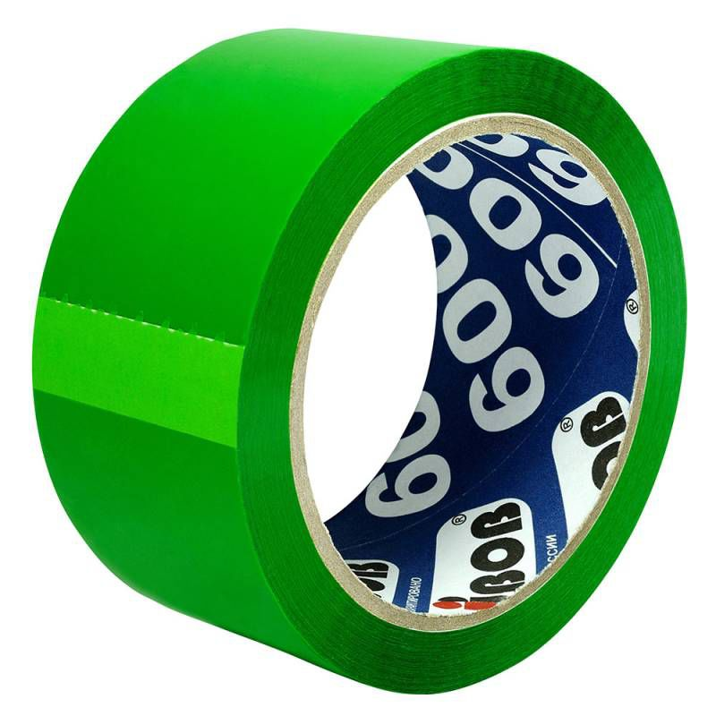Клейкая лента упаковочная Unibob 600 41154 зеленая шир.48мм дл.66м 45мкр