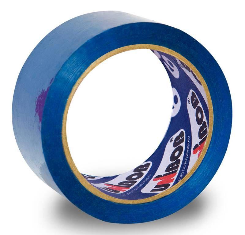 Клейкая лента упаковочная Unibob 600 41157 синяя шир.48мм дл.66м 45мкр