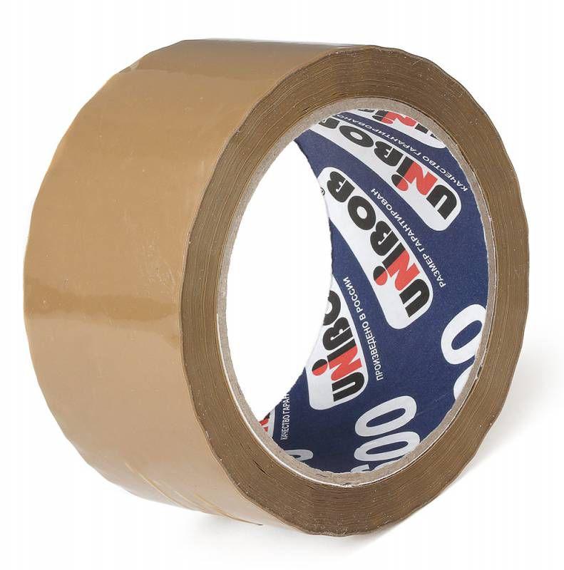 Клейкая лента упаковочная Unibob 600 41169 коричневая шир.55мм дл.66м 45мкр