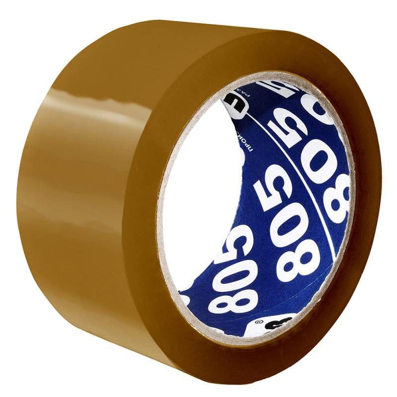 Клейкая лента упаковочная Unibob 805 41170 коричневая шир.50мм дл.66м 50мкр
