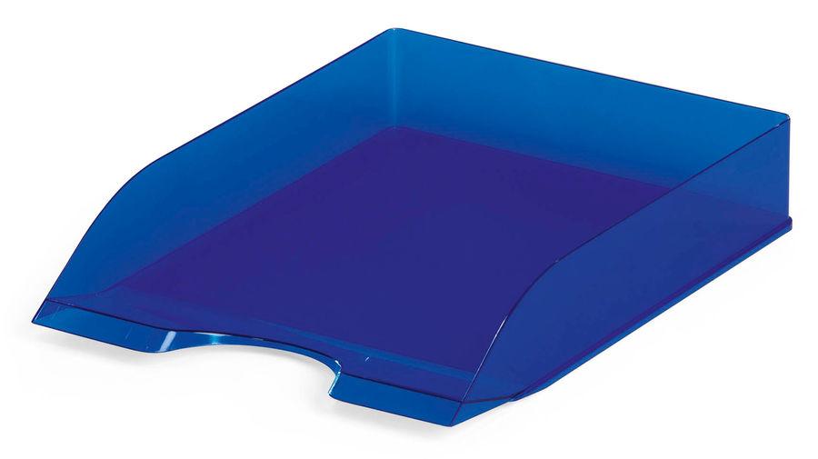 Лоток горизонтальный Durable 1701673540 Tray Basic A4 337x253x63мм прозрачный/синий пластик