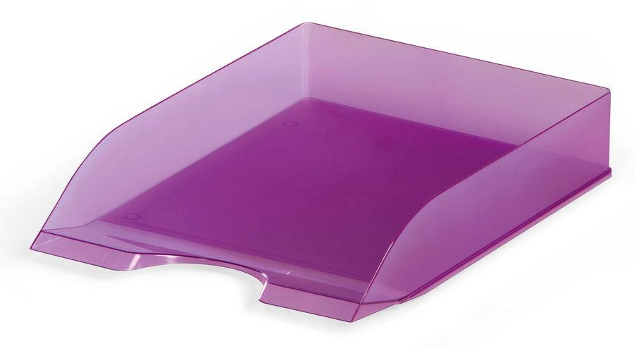 Лоток горизонтальный Durable 1701673992 Tray Basic A4 337x253x63мм прозрачный/фиолетовый пластик