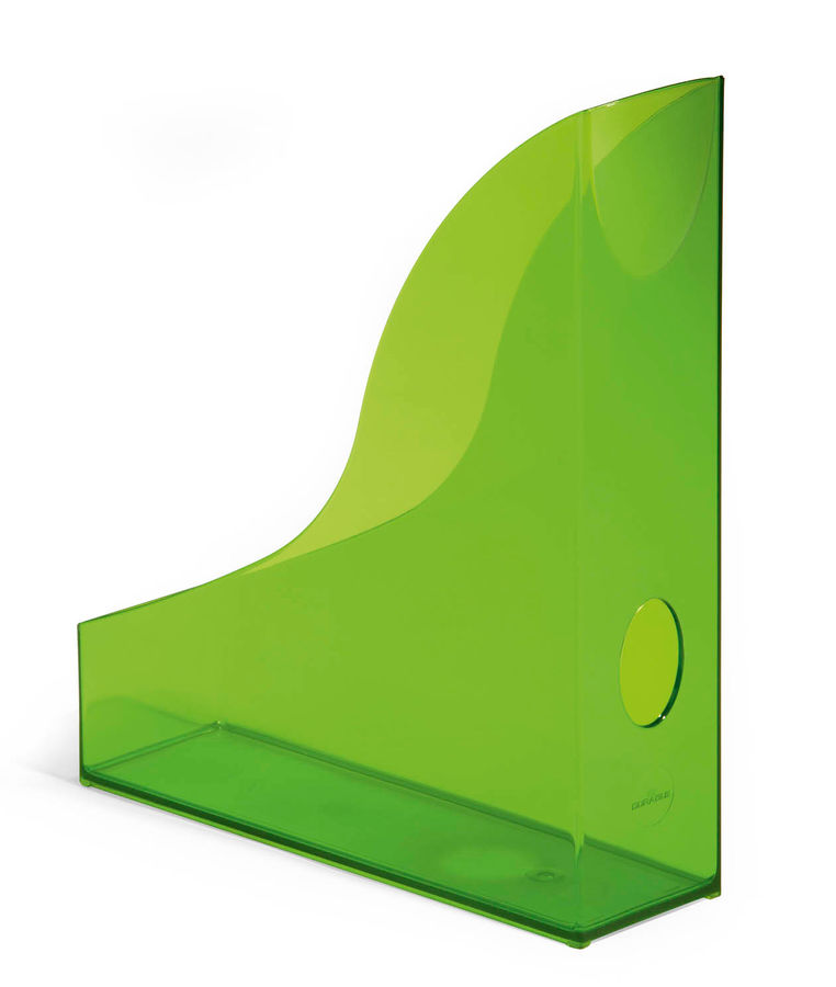 Лоток вертикальный Durable 1701712017 Rack Basic A4 73х306х241мм прозрачный/зеленый