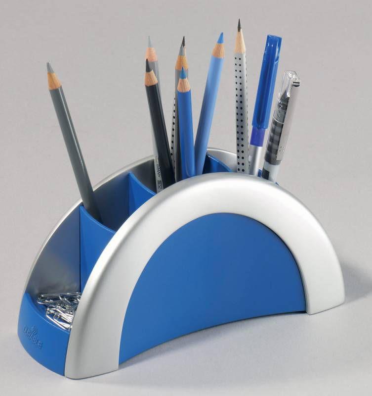 Подставка Durable 7720-23 Vegas для пишущих принадлежностей серебристый/синий пластик