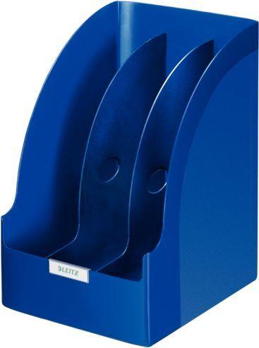Лоток вертикальный Esselte 52390035 Jumbo Leitz 3отд. для бумаг синий пластик