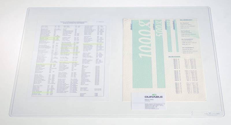Настольное покрытие Durable Duraglas (7112-19) 53x40см прозрачный