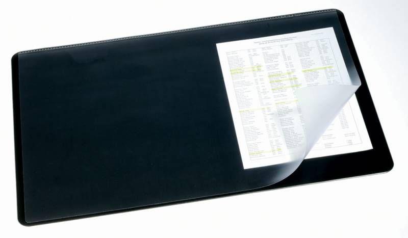 Настольное покрытие Durable (7202-01) 53x40см черный нескользящая основа прозрачный верхний слой