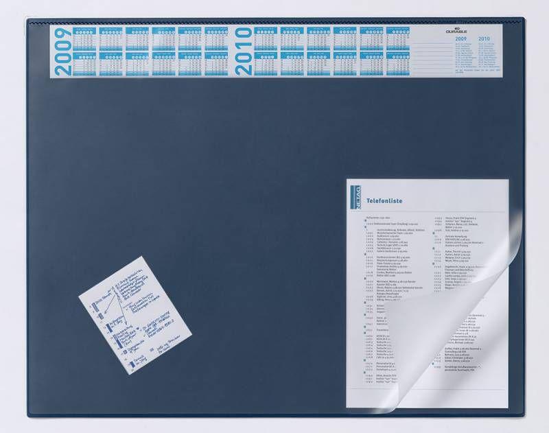 Настольное покрытие Durable (7204-07) 65х52см синий нескользящая основа прозрачный верхний слой