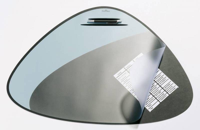 Настольное покрытие Durable Vegas (7208-01) 69х51см черный/серый эргономичная форма нескользящая осн