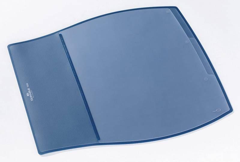 Настольное покрытие Durable (7209-07) 39х44см синий эргономичная форма нескользящая основа прозрачны