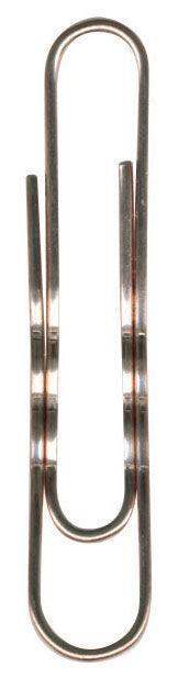 Скрепки Durable 1212-24 медь рифленый 50мм (упак.:100шт) картонная коробка