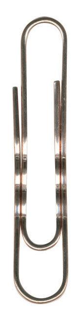 Скрепки Durable 1213-24 медь рифленый 77мм (упак.:100шт) картонная коробка