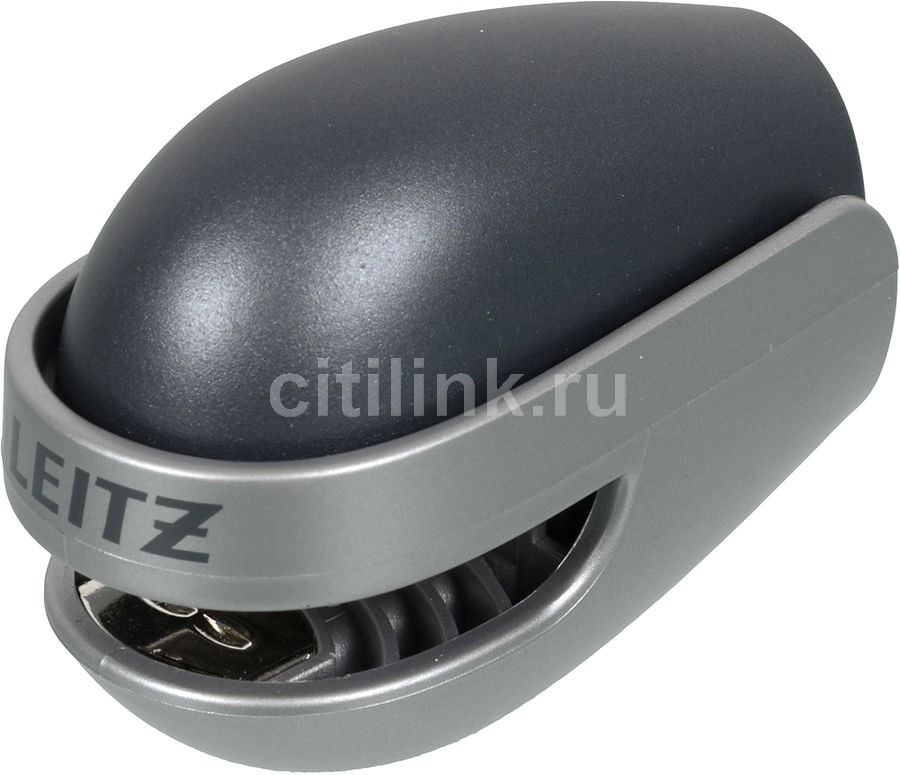 Степлер Leitz Allura №10 до 10л графит/серебро [55130089]