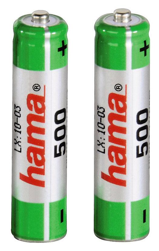 Аккумулятор HAMA Universal 46565,  2 шт. AAA,  500мAч