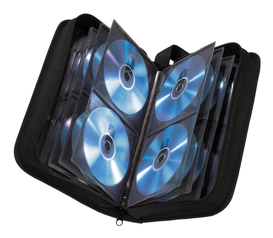 Портмоне HAMA H-11616, черный, для 64 дисков [00011616]