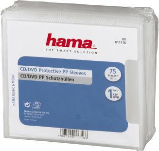Конверт HAMA H-11716, 75шт., прозрачный [00011716]