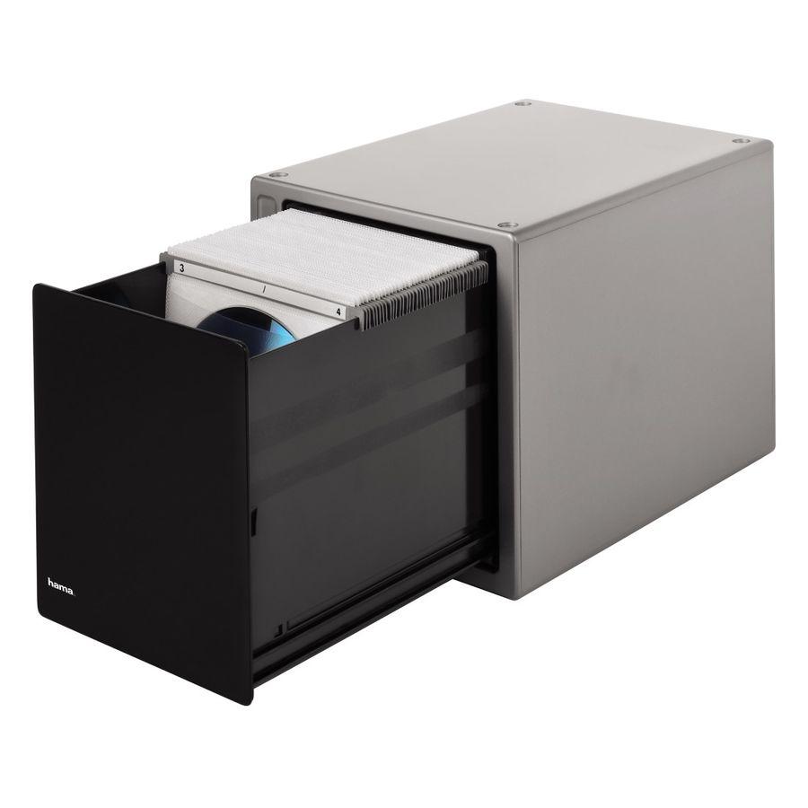 Коробка HAMA H-48318 Magic Touch, серебристый+черный, для 80 дисков [00048318]