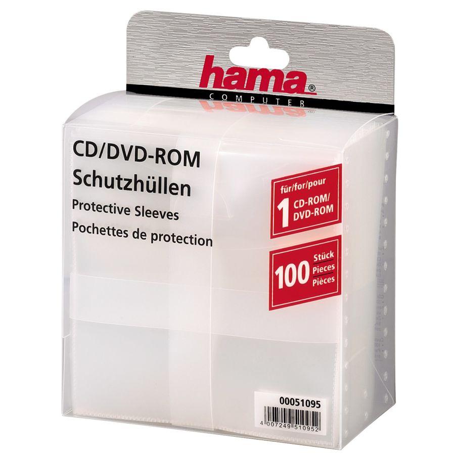 Конверт HAMA H-51095, 100шт., прозрачный [00051095]