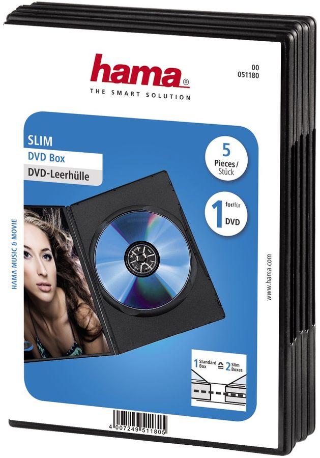 Коробка HAMA H-51180 Slim Box, 5 [00051180]