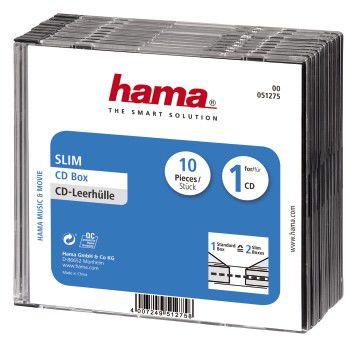 Коробка HAMA H-51275, 10шт., прозрачный+черный [00051275]