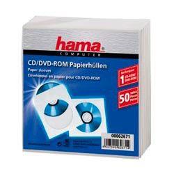 Конверт HAMA H-62671, 50шт., белый [00062671]