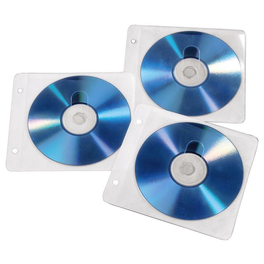 Конверт HAMA H-84101, 50шт., белый, для 2 дисков [00084101]