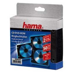 Конверт HAMA H-84102, 50шт., черный, для 2 дисков [00084102]