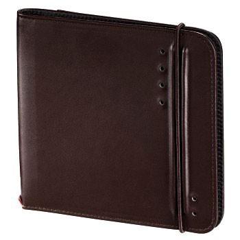 Портмоне HAMA Ready for Business H-95607, коричневый, для 24 дисков [00095607]