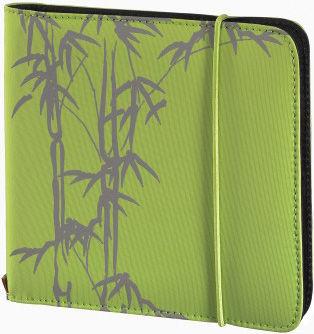Портмоне HAMA Up to Fashion H-95668, зеленый+серый, для 24 дисков [00095668]