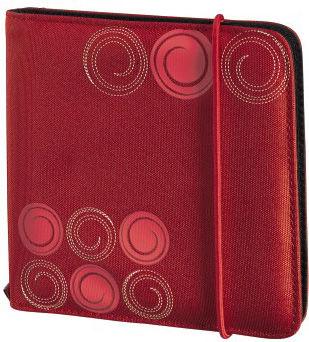 Портмоне HAMA Up to Fashion H-95669, красный, для 24 дисков [00095669]