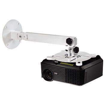 Кронштейн для проектора Hama H-84422 белый макс.15кг настенный и потолочный поворот и наклон