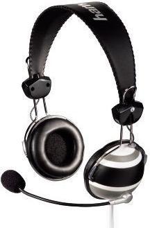 Наушники с микрофоном HAMA H-57157,  мониторы, черный  / белый [00057157]