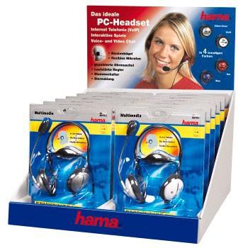 Наушники с микрофоном HAMA HS-55 (1 гарнитура),  00057193,  накладные, разные варианты цветов