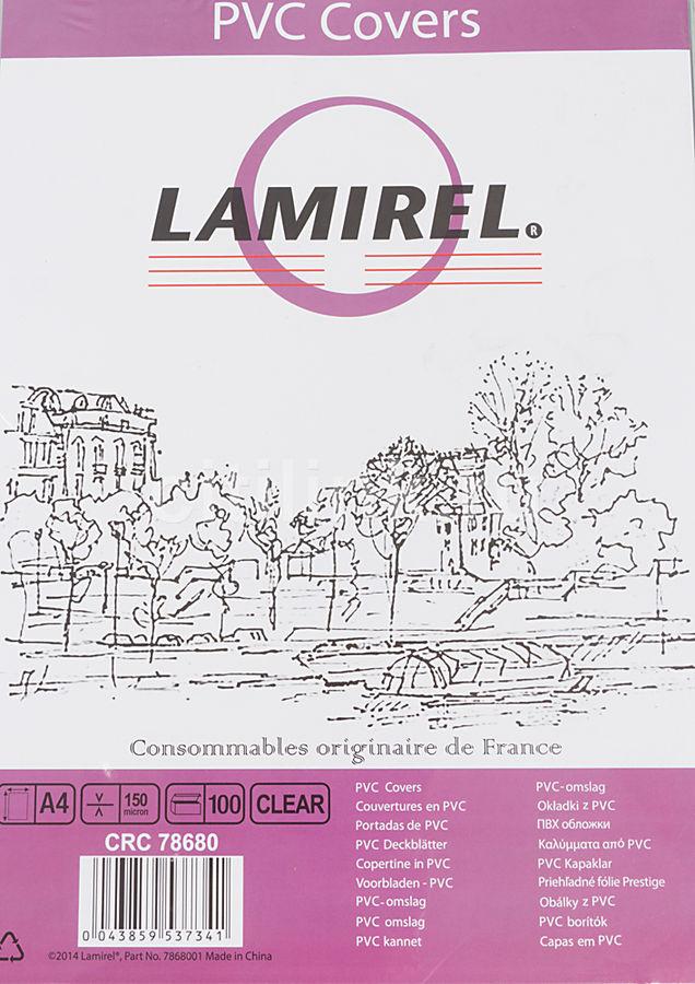 Обложка FELLOWES Lamirel,  A4,  150мкм,  100,  прозрачный
