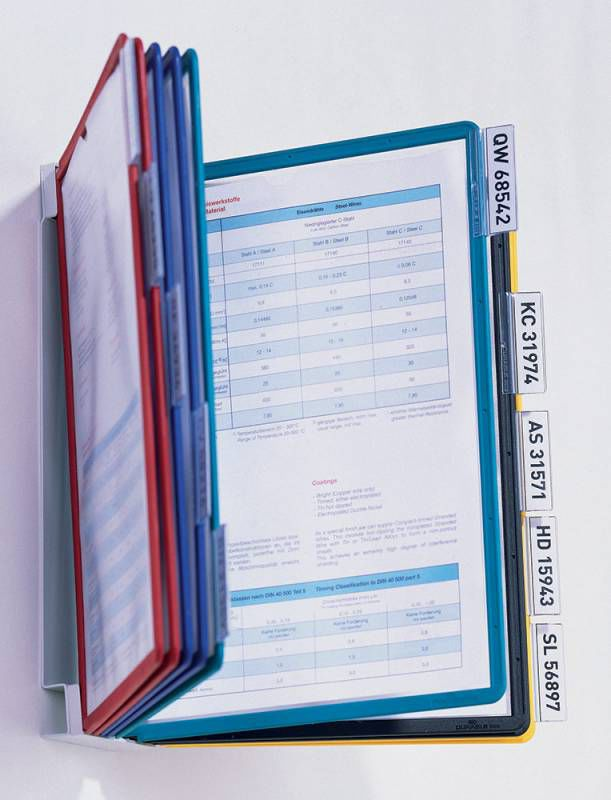 Дисплейная система Durable Sherpa Vario 556700 настенная модуль/10 панелей