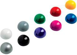 Магнит для досок Hebel Maul 6166099 ассорти d=30мм сферический (упак.:10шт)