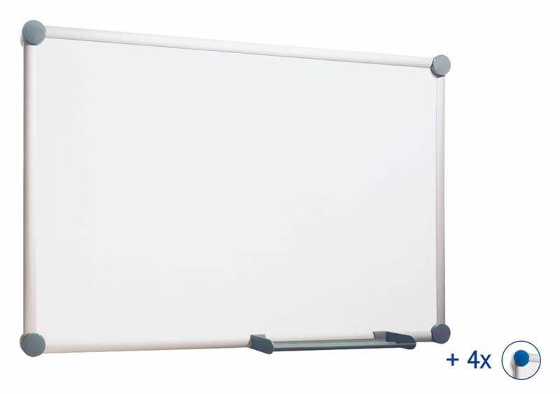 Демонстрационная доска Hebel Maul Whiteboard 2000 6302884 магнитно-маркерная лак 90x120см алюминиева