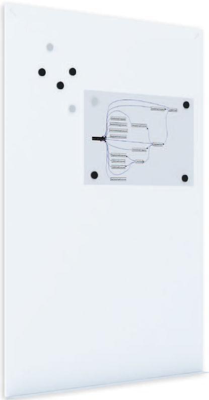 Демонстрационная доска Rocada Skinwhiteboard 6420R магнитно-маркерная лак 75x115см белый