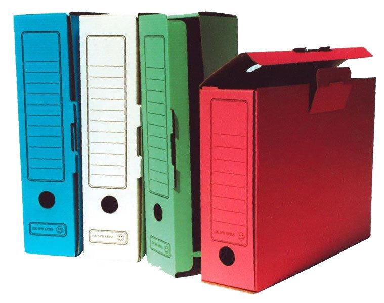 Короб архивный Бюрократ KKA-80 микрогофрокартон корешок 80мм A4 340x255x80мм ассорти