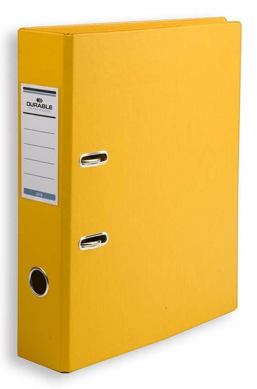 Папка-регистратор Durable 3110-04 A4 70мм ПВХ желтый