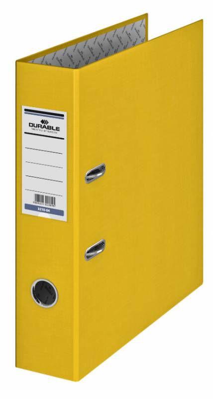 Папка-регистратор Durable 3210-04 A4 70мм бумвинил желтый