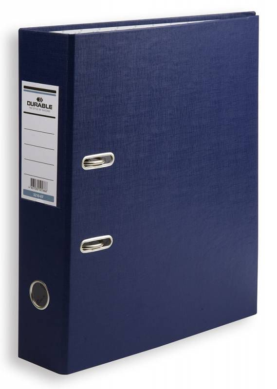 Папка-регистратор Durable 3210-07 A4 70мм бумвинил синий