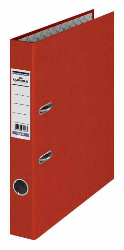 Папка-регистратор Durable 3220-03 A4 50мм бумвинил красный