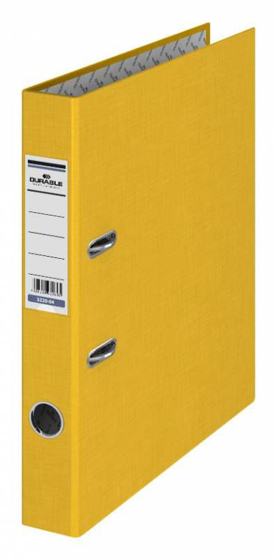 Папка-регистратор Durable 3220-04 A4 50мм бумвинил желтый