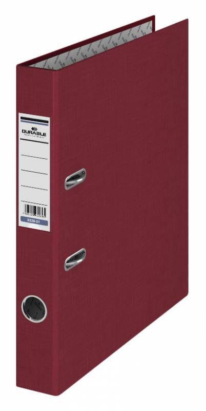 Папка-регистратор Durable 3220-31 A4 50мм бумвинил бордовый