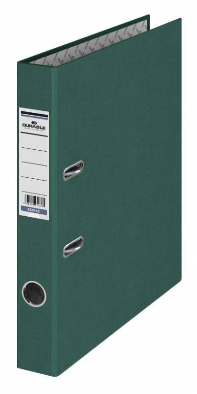 Папка-регистратор Durable 3220-32 A4 50мм бумвинил темно-зеленый