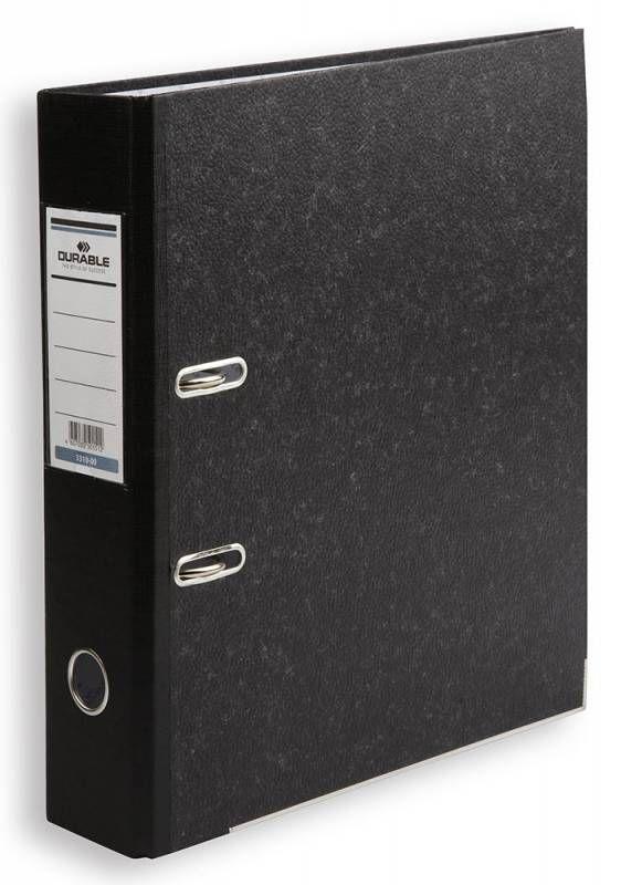 Папка-регистратор Durable 3320-00 A4 50мм картон черный мрамор