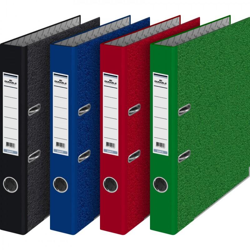 Папка-регистратор Durable 3410-31 A4 70мм картон бордовый мрамор