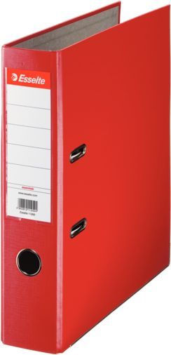Папка-регистратор Esselte Economy 11253P A4 75мм ПВХ/бумага красный